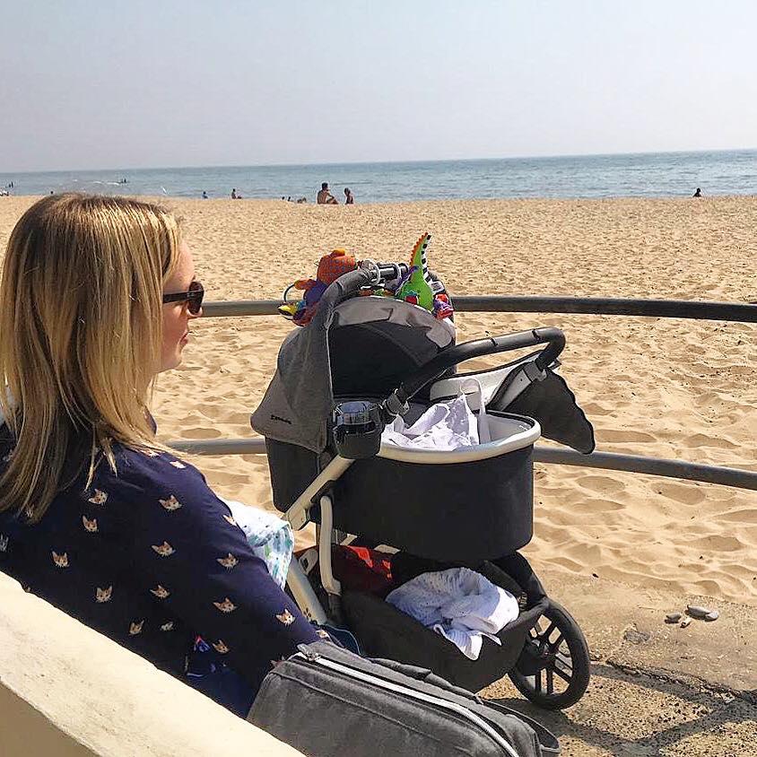Breastfeeding at the award-winning Bournemouth Beach, Dorset