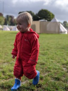 Pack waterproof clothing / puddle suits for your family camping trip.